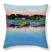 Scituate Harbor At Sunset Throw Pillow