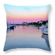 Scituate Harbor Sunset Throw Pillow