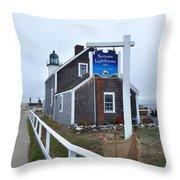 Scituate Lighthouse 1 Throw Pillow