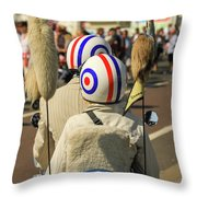 Scooter Mods And Helmets Throw Pillow