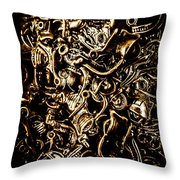 Scooters And Bike Parts  Throw Pillow