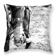 Scootin' Boot Throw Pillow