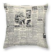 Scopes Trial, 1925 Throw Pillow
