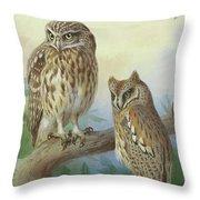 Scops Owl By Thorburn Throw Pillow