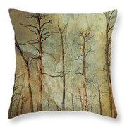 Scorched Forest Throw Pillow