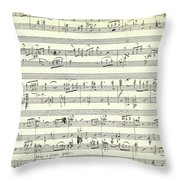 Score For The Opening Of Swan Lake By Tchaikovsky Throw Pillow