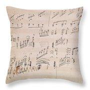 Score Sheet Of Moonlight Sonata Throw Pillow
