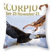 Scorpio Astrology Art Throw Pillow