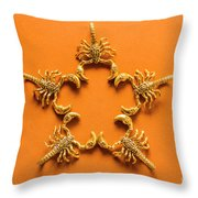 Scorpio Star Sign Throw Pillow