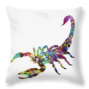 Scorpion-colorful Throw Pillow