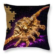 Scorpion Shell Puzzle Throw Pillow