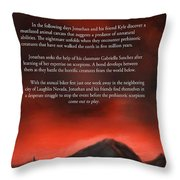 Scorpions Back Cover Throw Pillow