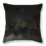 Scorpius And The Milky Way Throw Pillow