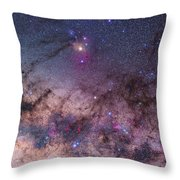Scorpius With Parts Of Lupus And Ara Throw Pillow