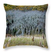 Scorton Creek Treeline Throw Pillow