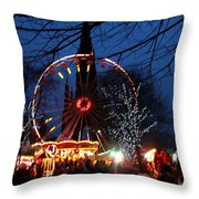 Scot Monument Christmas And Hogmanay Fair Scotland Throw Pillow