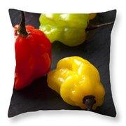 Scotch Bonnet Chilis Throw Pillow