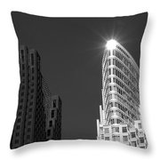 Scotia Plaza And One King West Throw Pillow