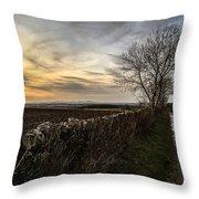 Scotland At Sunset Throw Pillow