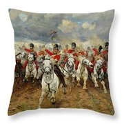 Scotland Forever Throw Pillow by Elizabeth Southerden Thompson