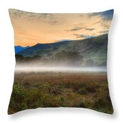 Scotland Mist In Widescape Throw Pillow