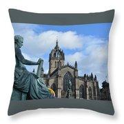 Scotland Skies Throw Pillow