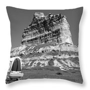 Scots Bluff Black And White Throw Pillow