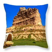 Scots Bluff National Monument Throw Pillow