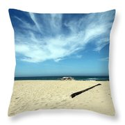 Scott Creek Beach California Usa Throw Pillow
