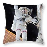 Scott Kelly, Expedition 46 Spacewalk Throw Pillow