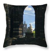 Scott Monument Throw Pillow