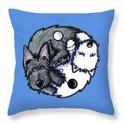 Scottie Westie Yin Yang Throw Pillow
