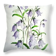 Scottish Blue Bells Throw Pillow
