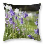 Scottish Bluebells Throw Pillow