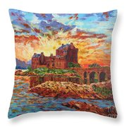 Scottish Castle - Eilean Donan Throw Pillow