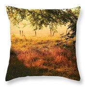 Scottish Farm Throw Pillow