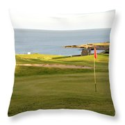 Scottish Golf Throw Pillow