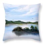 Scottish Highlands Throw Pillow