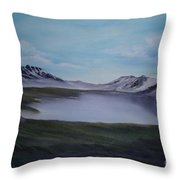 Scottish Highlands. Throw Pillow