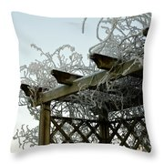 Scottish Hoar Frost Throw Pillow