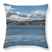 Scottish Panorama Over The River Clyde Throw Pillow