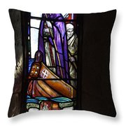 Scottish Stained Glass Window #2 Throw Pillow