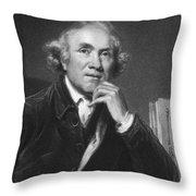 Scottish Surgeon John Hunter Throw Pillow