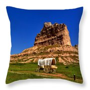 Scotts Bluff Large Panorama Throw Pillow