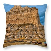Scotts Bluff National Monument Throw Pillow