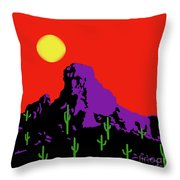 Scottsdale Mountain Throw Pillow