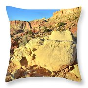 Scrambled Eggs Throw Pillow