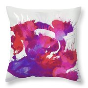 Scrambled Sunrise 2017 - Pink And Purple On White Throw Pillow