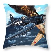 Scratch One Betty Throw Pillow