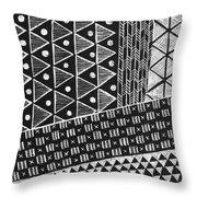 Scratchboard Kapa Pattern 1 Throw Pillow